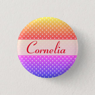Cornelia name plate Anstecker 1 Inch Round Button