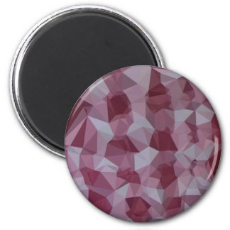 Cornell Red Abstract Low Polygon Background 2 Inch Round Magnet