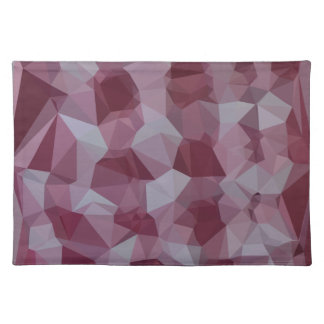 Cornell Red Abstract Low Polygon Background Placemat
