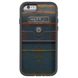 Cornell Rugged Rust Monogram Tough Xtreme iPhone 6 Case