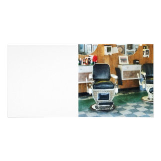 Corner Barber Two Chairs Photo Card