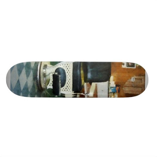 Corner Barber Two Chairs Skate Boards