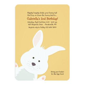 """Corner Bunny Invitation 5"""" X 7"""" Invitation Card"""