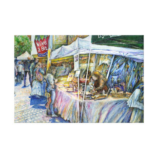 Corner of Flying Pig Farm and Wine a Bit. Canvas Print