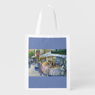 Corner of Flying Pig Farm and Wine a Bit. Reusable Grocery Bag