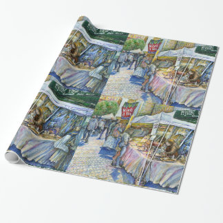 Corner of Flying Pig Farm and Wine a Bit. Wrapping Paper