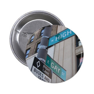 Corner of Gay and High Streets 2 Inch Round Button