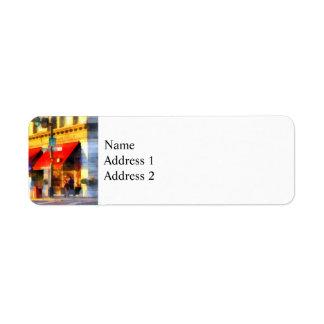 Corner or Center and Merchant Rutland VT Return Address Label