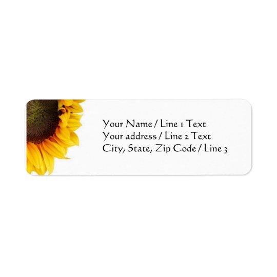Corner Sunflower Address Labels