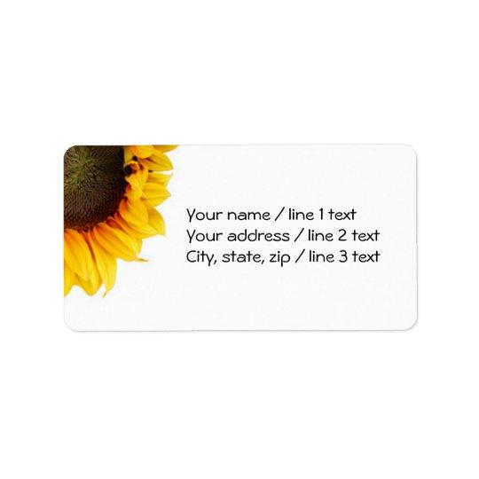 Corner Sunflower Address Labels - Large
