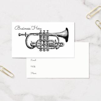 Cornet Horn Musical Instrument Minimalist Trumpet Business Card