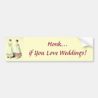 Cornez si vous aimez des mariages ! Adhésif pour p Autocollant De Voiture