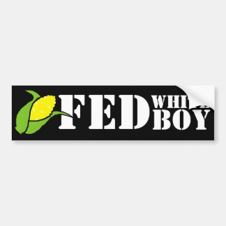 Cornfed white boy Bumper Sticker