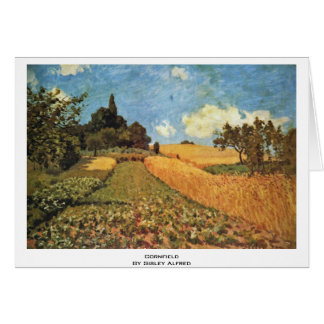 Cornfield By Sisley Alfred Card