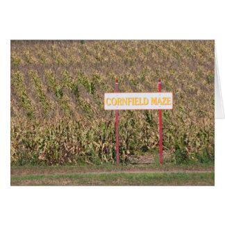 Cornfield Maze Greeting Card