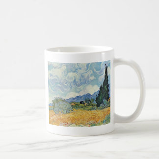 Cornfield With Cypresses By Vincent Van Gogh Coffee Mug