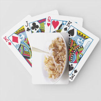 Cornflakes and milk bicycle playing cards