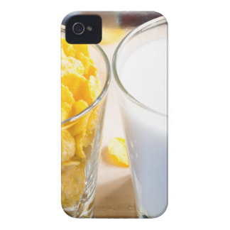 Cornflakes and milk for breakfast iPhone 4 Case-Mate case