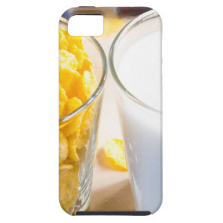 Cornflakes and milk for breakfast iPhone 5 cover
