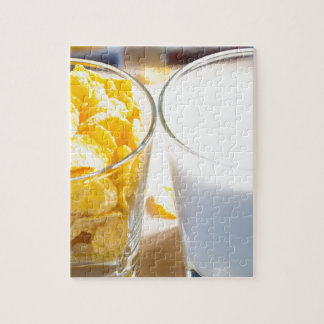Cornflakes and milk for breakfast jigsaw puzzle