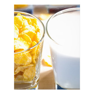 Cornflakes and milk for breakfast letterhead