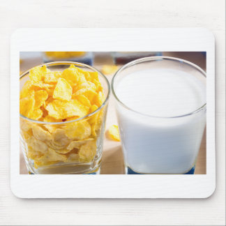 Cornflakes and milk for breakfast mouse pad
