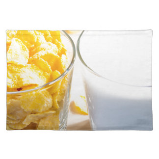 Cornflakes and milk for breakfast placemat