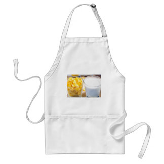 Cornflakes and milk for breakfast standard apron