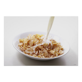 Cornflakes and milk poster