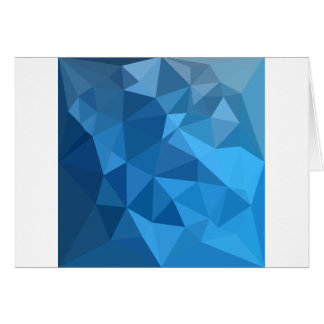 Cornflower Blue Abstract Low Polygon Background Card