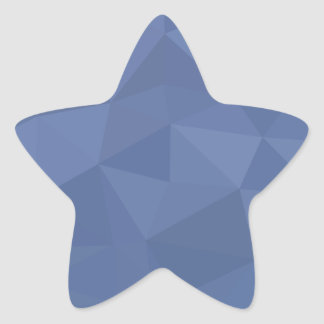 Cornflower Blue Abstract Low Polygon Background Star Sticker