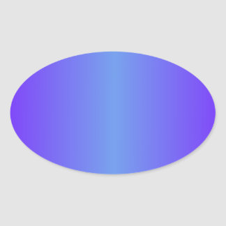 Cornflower Blue and Electric Indigo Gradient Oval Sticker