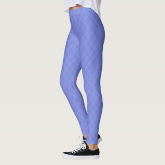 Cornflower Blue and Purple Ombre Harlequin Leggings