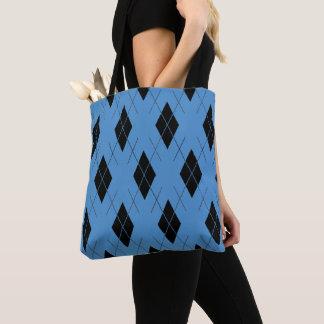 Cornflower-Blue--Argyle-Totes_Bag''s_Multi-Style's Tote Bag
