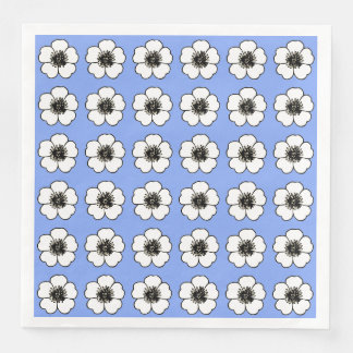 Cornflower-Blue-Cottage-Flower's-NAPKIN-DECOR Paper Napkins