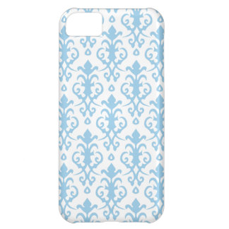 Cornflower Blue Damask iPhone 5 Case