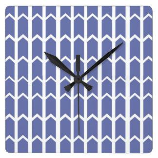 Cornflower Blue Panel Fence Wall Clocks