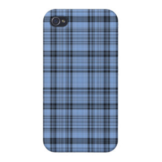 Cornflower Blue Plaid iPhone 4 Case