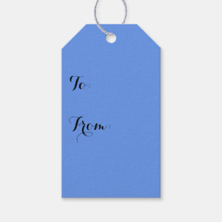 Cornflower Blue Solid Color Pack Of Gift Tags