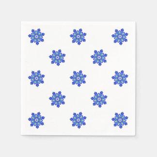 Cornflower blue star kaleidoscope paper napkins