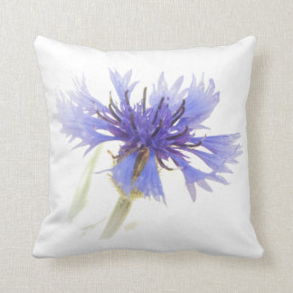 Cornflower Blue Throw Pillow