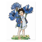 Cornflower Girl Postcard