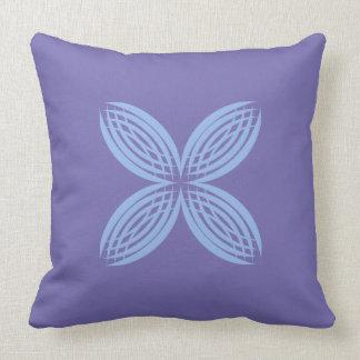 Cornflower on Lilac Throw Pillow