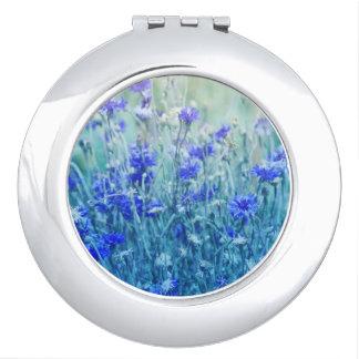 Cornflowers Compact Mirror