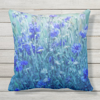 Cornflowers Outdoor Pillow