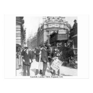 Cornhill news vendor 1904 London England, U.K. Postcard