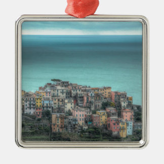 Corniglia on the cliffs, Cinque Terre Italy Metal Ornament