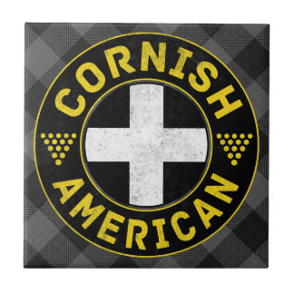 Cornish American Flag Ceramic Tile