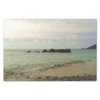 Cornish beach tissue paper