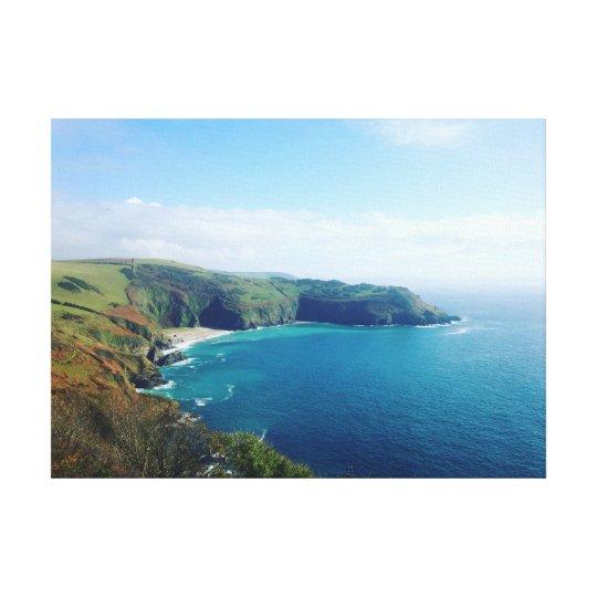 Cornish Coastline Canvas Print